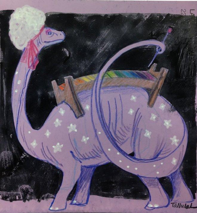 "Celestia ""Thunder Lizard"" Stardust by Tallulah Cunningham (@FabricMagpie, http://melanippos.com, http://patreon.com/papertigress, Instagram: melanippos)"